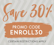 Save with promo code ENROLL30